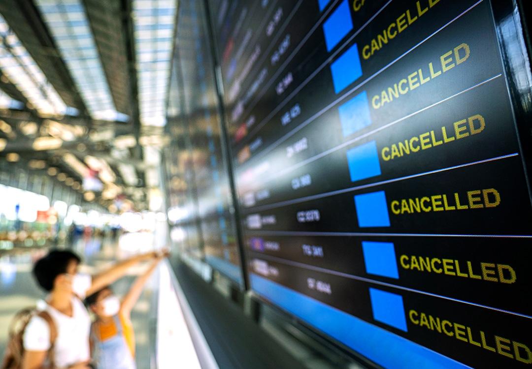 Voli cancellati: rimborso biglietti e risarcimento danni